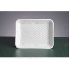 "9.25"" Foam Supermarket Tray in White"