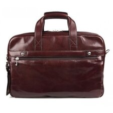 Old Leather Stringer Laptop Briefcase