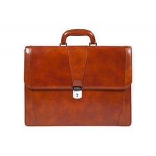 Old Leather Laptop Briefcase