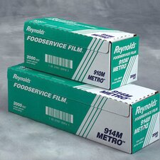 "24"" Metro Light-Duty PVC Film Roll with Cutter Box in Clear"
