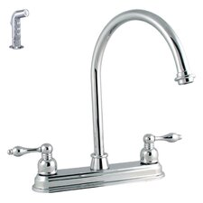 <strong>LDR</strong> Victorian Lever Double Handle Kitchen Faucet with Spray
