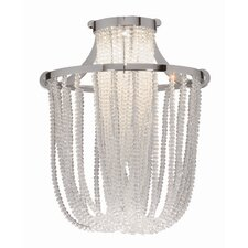 "7.38"" Crystal Glass Pendant Shade"