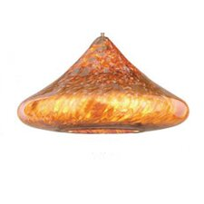 <strong>WAC Lighting</strong> Shanti Pendant Art Glass Shade in Amber