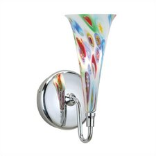 Flute Art Glass Wall Sconce