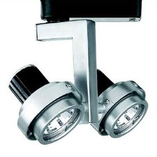 2 Light Double Adjustable Low Voltage Track Heads
