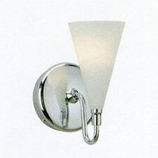 Cased Glass Cone Wall Sconce