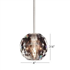<strong>WAC Lighting</strong> Crystal Polaris 1 Light Pendant