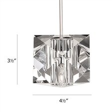 Crystal Prisma 1 Light Mini Pendant