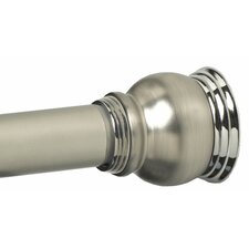 <strong>Zenith Products</strong> Finial Shower Rod in Satin Nickel