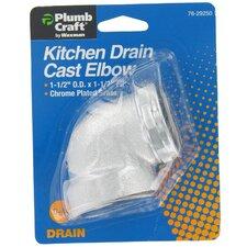 """1.25"""" Cast Elbow Pop Up Kitchen Sink Drain"""