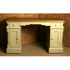 Country Writing Desk with Double Pedestal