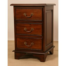 James Bedroom 3 Drawer Bedside Table