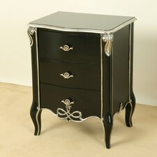 Coco 3 Drawer Bedside Table