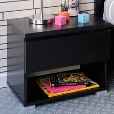 High Tek 1 Drawer Bedside Table