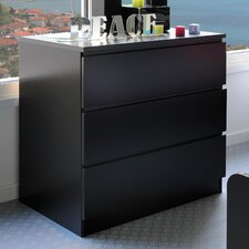 High Tek Chest of 3 Drawers