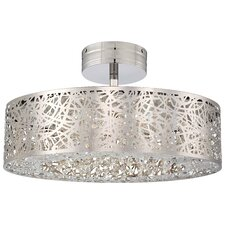 Hidden Gems 1 Light Semi Flush Mount