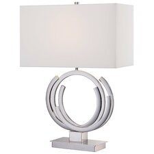 "24.5"" Table Lamp with Rectangular Shade"