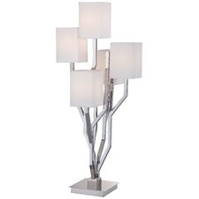"34.25"" Table Lamp with Square Shade"