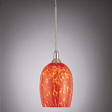 Droplets Pendant with Red Cased Glass Shade