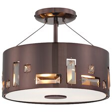<strong>George Kovacs by Minka</strong> Bling Bang 3 Light Semi Flush Mount
