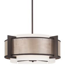 <strong>George Kovacs by Minka</strong> Mainly Mesh 4 Light Drum Pendant