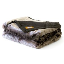 Russet Chinchilla Faux Fur Acrylic Throw Blanket