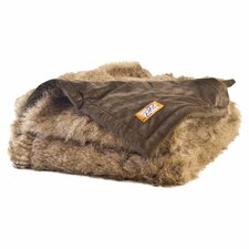 Raccoon Tail Faux Fur Acrylic Throw Blanket with Faux Suede Lining
