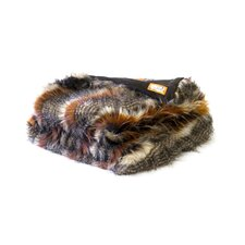 <strong>Posh Pelts</strong> Red Fox Tail Faux Fur Acrylic Throw Blanket