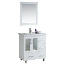 "<strong>Design Element</strong> Milan Stanton 32"" Modern Vanity Set"