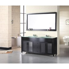 "Waterfall 61"" Double Sink Vanity Set"