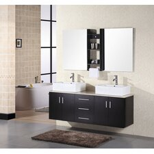 "<strong>Design Element</strong> Ava 61"" Double Sink Vanity Set"