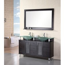 "Redondo 61"" Double Sink Vanity Set"