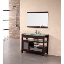 "<strong>Design Element</strong> Milan 43"" Single Sink Vanity Set"