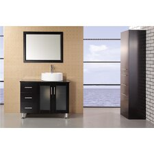 "<strong>Design Element</strong> Malibu 39"" Single Sink Modern Bathroom Vanity Set"