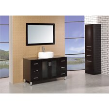 "<strong>Design Element</strong> Malibu 47"" Single Sink Modern Bathroom Vanity Set"