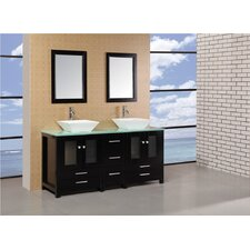 "Arlington 61"" Double Sink Bathroom Vanity Set"