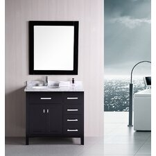 "<strong>Design Element</strong> London 36"" Modern Bathroom Vanity Set"