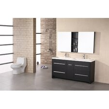 "<strong>Design Element</strong> Perfecta 63"" Double Sink Vanity Set"