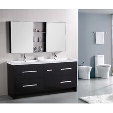 "<strong>Design Element</strong> Perfecta 72"" Double Sink Vanity Set"