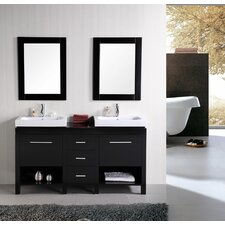 "New York 60"" Contemporary Bathroom Vanity Set"