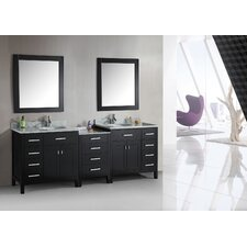 "London 92"" Double Sink Vanity Set"