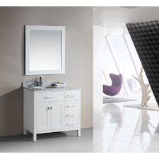 "<strong>Design Element</strong> London 36"" Single Sink Vanity Set"