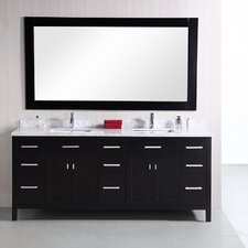 "London 78"" Modern Double Bathroom Vanity Set"