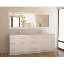 "<strong>Design Element</strong> Moscony 84"" Double Sink Vanity Set"