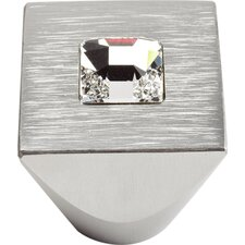 "Boutique Crystal 1"" Square Centered Crystal Knob"