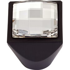 "Boutique Crystal 1"" Square Large Crystal Knob"