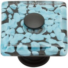 "<strong>Atlas Homewares</strong> Glass 1.5"" Marine Square Knob"