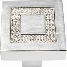 "Boutique Crystal 1.4"" Square Knob"