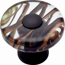 "Glass Milky Way 1.5"" Round Knob"