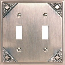 <strong>Atlas Homewares</strong> Craftsman 2 Toggle Wall Plate 4.5""
